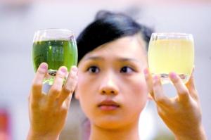 金银花泡的茶是墨绿色? 制造商:绿原酸含量高