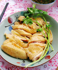 广东美食 白切鸡图